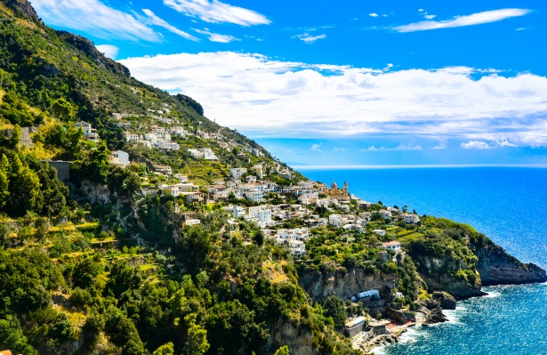 De Amalfikust, Italië